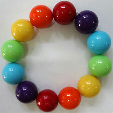 Elastic Multicoloured Bead Bracelet Wristband Bangle Womens Ladies Girls Jewelry
