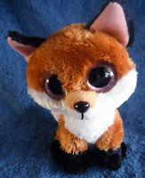 *1912c*  Slick the Fox - TY Beanie Boos - pink eyes-  plush - 17cm