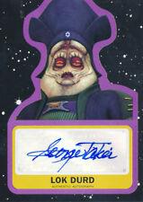 Topps Star Wars Journey Last Jedi George Takei as Lok Durd Autograph #99 Purple