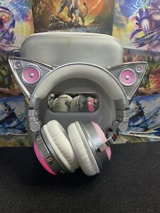 Ariana Grande Wireless Bluetooth Cat Ear Brookstone Headphones Limited-Excellent