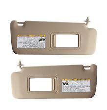Pair Set of Left & Right Ivory Sun Visors Genuine For Toyota Highlander 04-07
