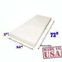 "3"" x 24"" x 72"" High Density Seat Foam Cushion Replacement Upholstery Per Sheet"