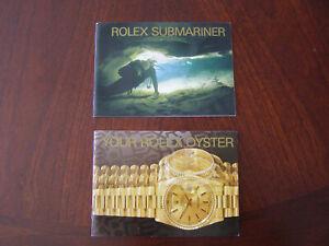 Vintage 1994 Rolex Submariner & Oyster Booklet Manuals Pamphlet