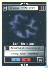 "Star Trek CCG Premiere WB Unlimited Study ""Hole In Space"""