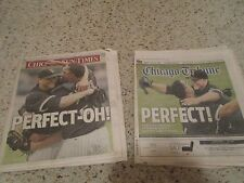 Mark Buehrle Chicago White Sox PERFECT GAME newspapers coverage Tribune SunTimes