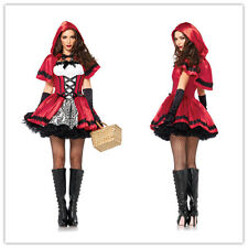 Adult Little Red Riding Hood Costume Fancy Cosplay HALLOWEEN Carnival Dress M 10