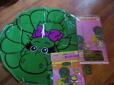 4pc Lot 1993 Unique Barney Baby Bop Multi-color Birthday Party Goods  NOS
