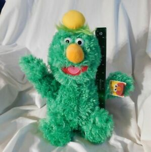 "Sesame Street Collectors: New 17"" Green Dinger Monster Plush Sesame Place Rare"