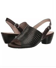 Spring Step Womens Eleanor Black Sandals New