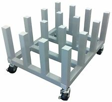Heavy Duty Media Roll Mover Cart Rack – Holds 16 rolls