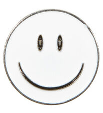 White Smiley Face Golf Ball Marker - Package of 2 - Be Happy on the Course!
