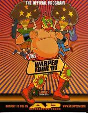 Warped Tour 2001 Official Program Rancid 311 Afi Sum 41