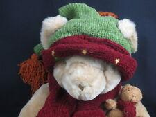 BIG MOMMY & BABY CHRISTMAS CHERISHED TEDDIES TEDDY BEAR WINTER HAT SCARF PLUSH