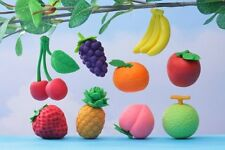 IWAKO Puzzle Eraser / Fruits 60pc Pack (9 Different Fruits Assorted)
