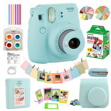 Fujifilm Instax Mini 9 Film Camera Ice Blue + 20 Sheets + Cover + 10-IN-1 Kits