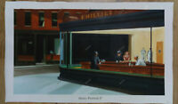 Nighthawks Edward Hopper Reproduction Oil Painting Hand-Painted Canvas 33 x 60