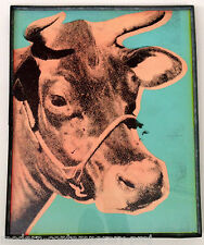 Andy Warhol 2 cow silkscreens in Ed Kienholz unique lead hand made frames signed