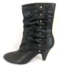 CARLOS by Carlos Santana Women's Castillo Black Mid-calf Studded Boots - Size 6
