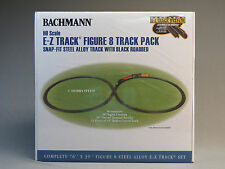 BACHMANN E-Z TRACK HO FIGURE 8 PACK LAYOUT steel alloy w black roadbed 44487 NEW