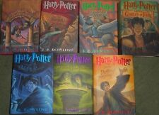 VG COMPLETE Set of 7 HC in dj First Edition Printing Harry Potter by J K Rowling
