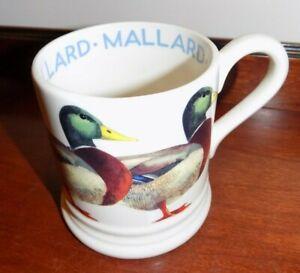 EMMA BRIDGEWATER  BIRDS MALLARD   1/2 PINT MUG    NEW