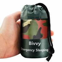 Camouflage Waterproof Emergency Sleeping Bag Reusable Thermal Survival au