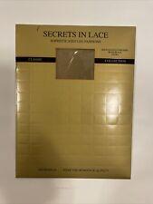 Nylons Nylonstrümpfe Secrets in Lace 15 den 9650 heel black/beige size opera XL
