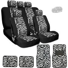 NEW PREMIUM BLACK MESH ANIMAL ZEBRA TIGER PRINT SEAT COVERS MATS FOR JEEP
