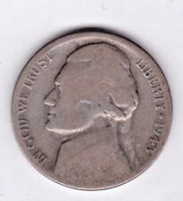 1943 S Jefferson nickel in AVERAGE CIRCULATED condition ( 35 %SILVER )stk S100