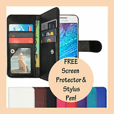 Leather Flip Case PU Wallet Stand Cover for Samsung Galaxy J1 2016 J16 & J100Y