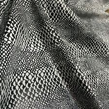 New Exotic Animal Print with foil clear finish on top Nylon Lycra Spandex Fabric