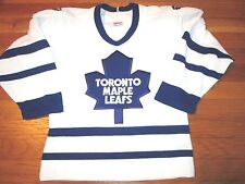 VINTAGE CCM MASKA AIR KNIT NHL TORONTO MAPLE LEAFS JERSEY SIZE YOUTH S/M