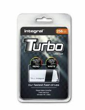 Integral TURBO 256GB USB 3.0 Flash Drive Up To 400MB/s Read / 200MB/s Write.