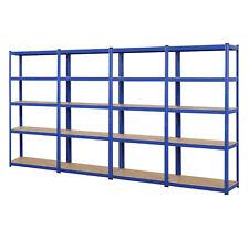 Steckregal 875 kg Werkstattregal Kellerregal Schwerlastregal Garage Regal blau