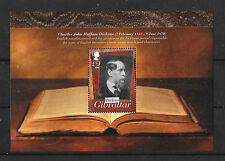Gibraltar 2012 Dickens 200th Anniversary MS MNH