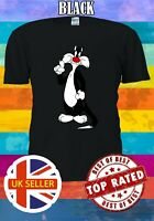 Sylvester The Cat Cute Sweet Tweety Cartoon Men Women Unisex T-shirt 3643