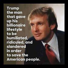 "President Donald Trump Save The American People 4""x4"" Flexible Fridge Magnet"