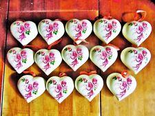 14 Vtg Floral Victorian Porcelain Hanging Sachet Scent Holder Potpourri Hearts