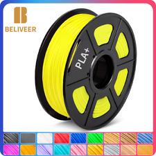 Beliveer PLA+ 3D Drucker Filament Gelb Farbe 1,75mm 1kg Geringe Schrumpfung
