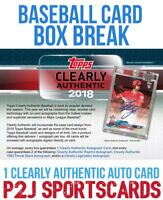 2018 TOPPS Clearly Authentic BASEBALL Hobby BOX BREAK-1 Random Team-Break 882⚾️