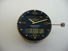 Breitling mouvement aérospace avec cadran bleu et aiguilles fonctions ok