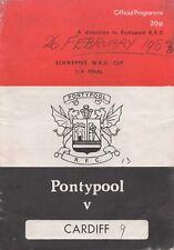 Feb 83 PONTYPOOL v CARDIFF Schweppes Cup