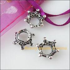 5Pcs Tibetan Silver Tone Crown Beads end Caps Charms 13.5mm