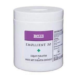 50 50 Bells Emollient 50 Liquid Paraffin In A White Soft Paraffin Ointment 500g