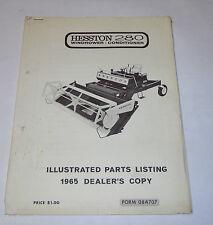 Teilekatalog / Parts List Schwader / Windrower Hesston 280, Stand 1965