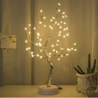 LED Night Light Tree Stars Table Lamp Party Wire Garland Lamp Christmas Decor