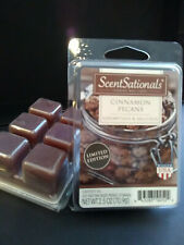 2 PACKS ScentSationals CINNAMON PECANS Scented Wax Cubes & FREE Shipping!