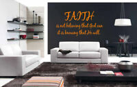 Wall Decal Sticker Bedroom Decor Faith Is Believing Quote God Religion bo2530