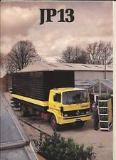 RENAULT JP 13 CAMION FURGONE SALES BROCHURE 1982