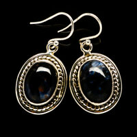"Pietersite 925 Sterling Silver Earrings 1 1/4"" Ana Co Jewelry E392201F"